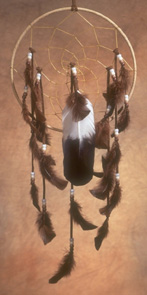 Leather Dream Catcher (Lakota Made)