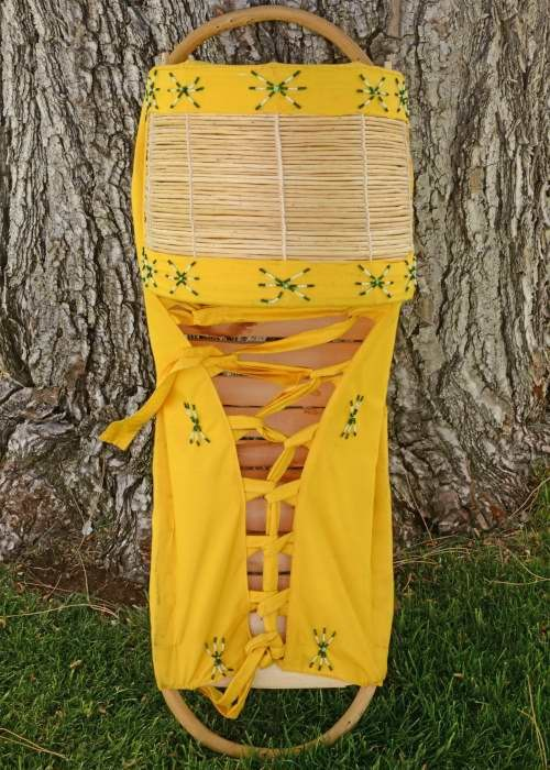 Apache Indian Beaded Cradle Board