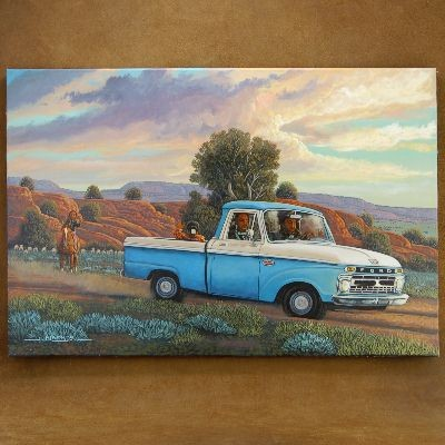 Old Ford Pickup Truck Navajo Limited Edition Gicl�e Print by JC Black