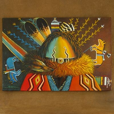 Yei Sandpainter Navajo Painting Gicl�e Print by JC Black