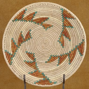 Traditional Native Indian Friendship Plate Basket