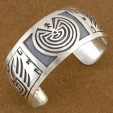 Navajo Sterling Silver Man In the Maze Bear Claw Bracelet