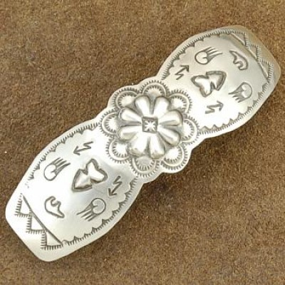 Traditional Native American Sterling Silver Hair Barrette