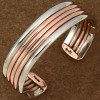 Navajo Copper Nickel Silver Twist Cuff Bracelet