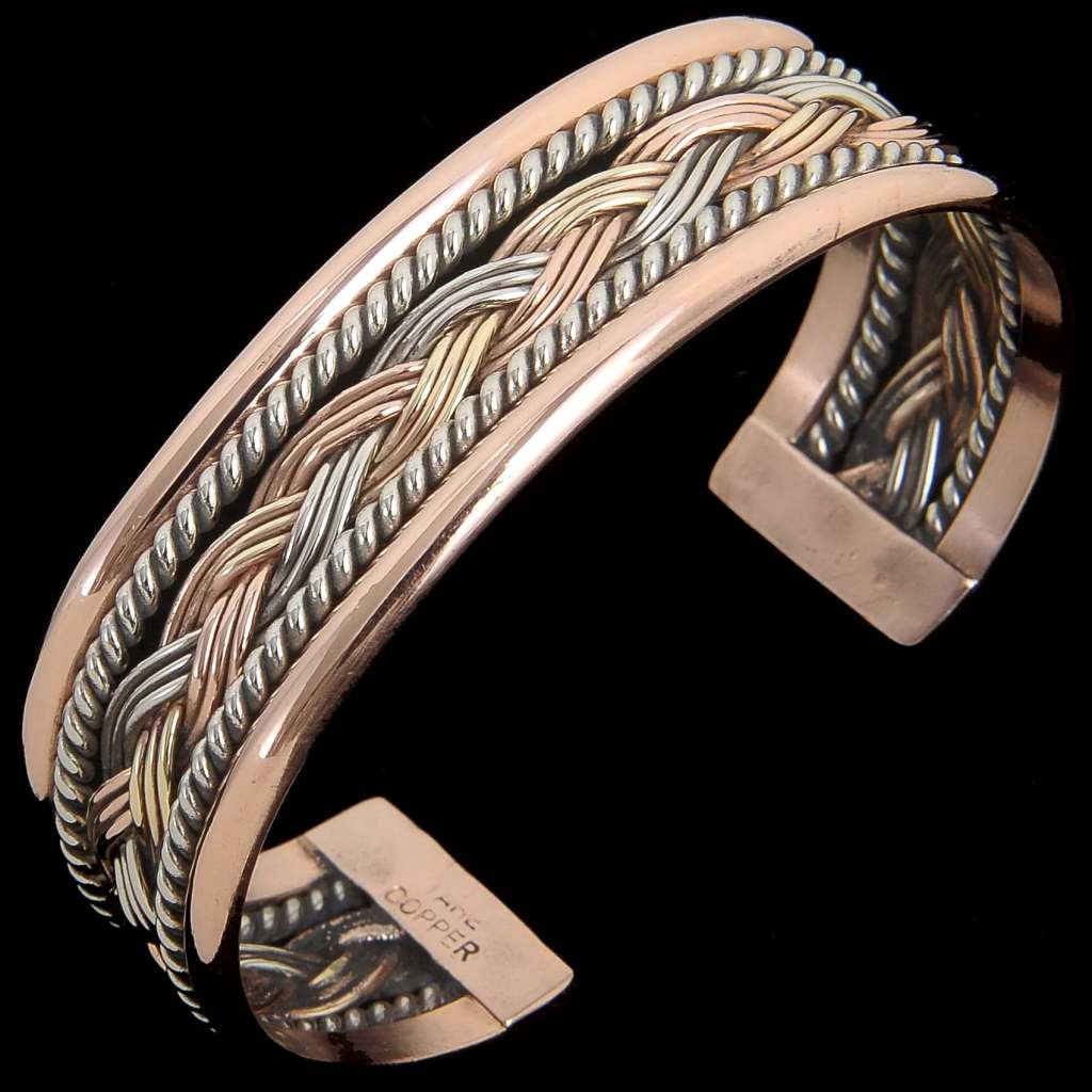 Navajo Wide Braided Twist Wire Cuff Bracelet