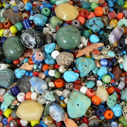 One Pound of Crafters Trade BEADS and GEMSTONES