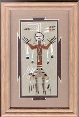 Navajo Framed And Matted Sand Paintings