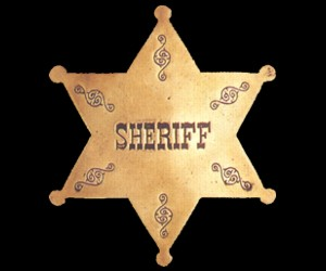 Reproduction Brass Sheriff Badge