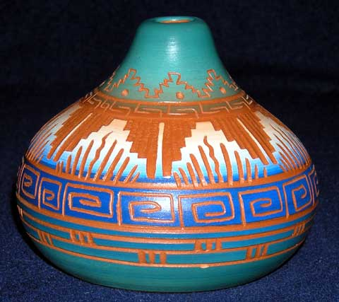 Navajo Etched Smoke Pot