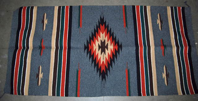 rug zigzag multi mexico hispanic art mexican tan com rugs galeriaquetzal pm