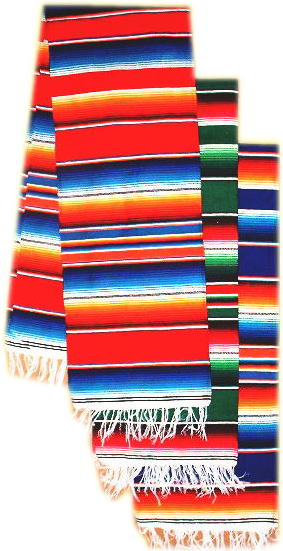 Mexican sarape Table Runner from Mexico