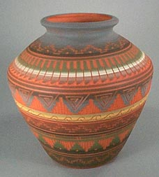 Traditional Navajo pitch pottery and Navajo Etched Pottery