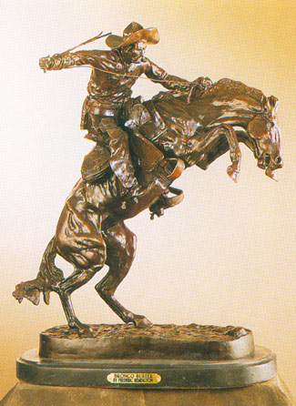Bronze Bronco Buster by Frederic Remington