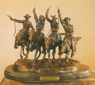 Bronze Coming Thru The Rye by Frederic Remington