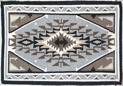 Two Grey Hill Rug by Navajo weaver Jesse Begay