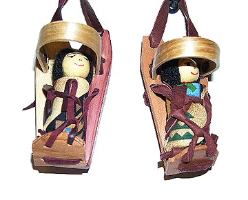 Navajo Cradleboard Doll Ornaments