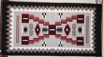 Storm pattern rug by Navajo weaver Daisy George