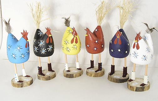 Navajo Wooden folk art chicken