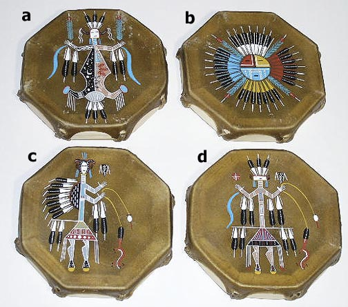 Cochiti Indian Drums and flutes