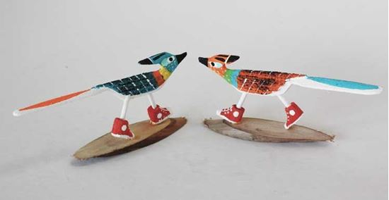 Navajo Wood folk Art Roadrunner in Tennis Shoes