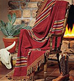 Southwestern Rustic Santa Fe Style Mexican Blankets Throws Placemats And Sas In