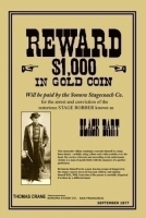 Black Bart Wanted Poster print