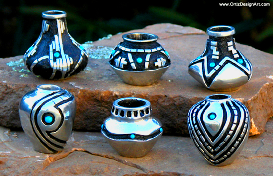 Fred Ortiz Pewter Small & Mini Pot Collection
