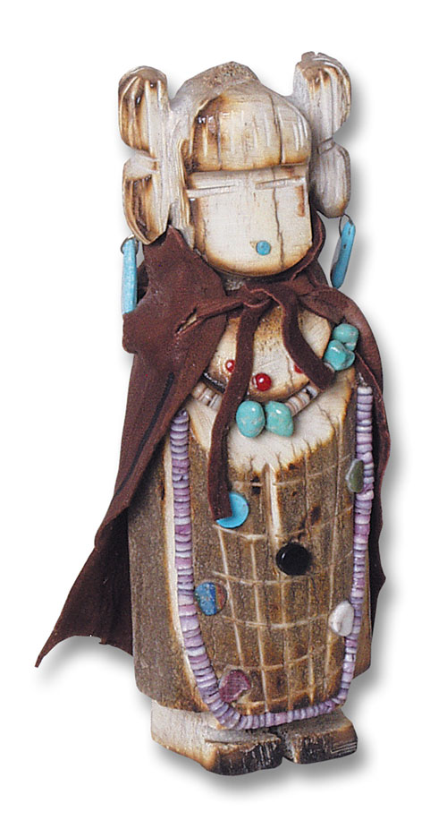 Navajo Made hand-carved Corn Maiden Kachina Doll