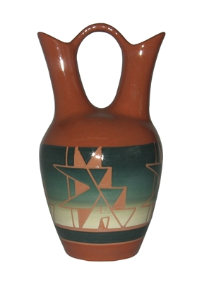 Glazed Sioux pottery Cedar Pass Wedding Vase