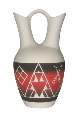 Sioux pottery Matte Luta Sapa Wedding Vase