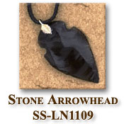 Arrowhead necklace on Leather Strap