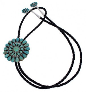 Sterling Silver Jewelry Turquoise Bolo Tie