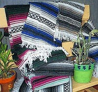 Santa Fe & Mexican Blankets,Throws,Placemats and Sarapes for Southwestern, Home Interior Decor