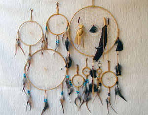 Image result for plains indian dream catchers and beaded pouches