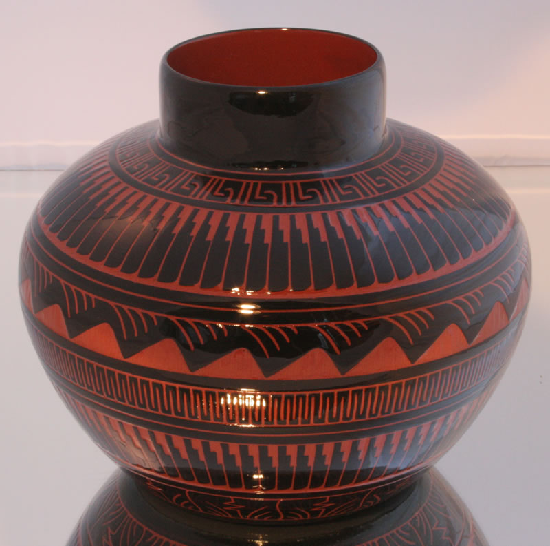 Navajo Etched Indian Pottery