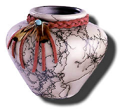 Navajo Indian Made Horsehair Pottery