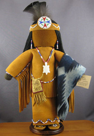 Handsewn Native American Indian traditional women doll