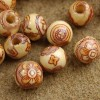 8mm Painted Wood Beads Set of Fifty